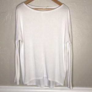 Women's white sweater GAP size M hi-low